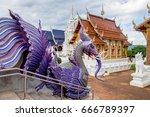 ban den temple is a thai temple ... | Shutterstock . vector #666789397