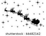 santa claus driving in a sledge | Shutterstock .eps vector #66682162