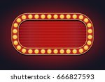 light sign marquee bulb glowing ... | Shutterstock .eps vector #666827593