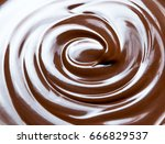 melting chocolate   melted... | Shutterstock . vector #666829537