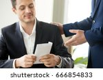 happy corrupted businessman... | Shutterstock . vector #666854833