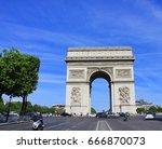 paris  france   june 5  2017 ... | Shutterstock . vector #666870073