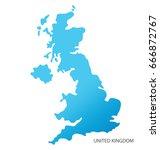 map of united kingdom | Shutterstock .eps vector #666872767