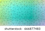 abstract textured polygonal... | Shutterstock . vector #666877483