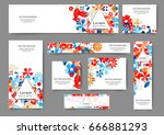 set of abstract web banner... | Shutterstock .eps vector #666881293