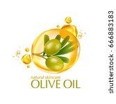 olive oil organics natural skin ... | Shutterstock .eps vector #666883183