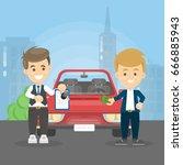 car deal illustration.   Shutterstock .eps vector #666885943