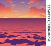 sea or ocean landscape. vector...   Shutterstock .eps vector #666889183
