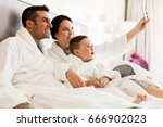 people  family and technology... | Shutterstock . vector #666902023