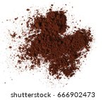 pile of powdered  instant... | Shutterstock . vector #666902473
