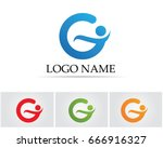 g letters logo and symbols | Shutterstock .eps vector #666916327