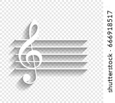 music violin clef sign. g clef. ... | Shutterstock .eps vector #666918517