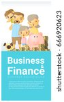 business and finance concept... | Shutterstock .eps vector #666920623