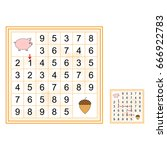 labyrinth with numbers.... | Shutterstock .eps vector #666922783