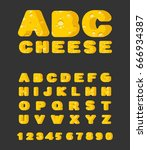 cheese abc. cheesy font. food... | Shutterstock .eps vector #666934387
