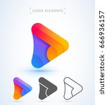 play and arrow sign logo... | Shutterstock .eps vector #666936157