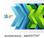 techno arrow background  vector ... | Shutterstock .eps vector #666937747