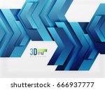 techno arrow background  vector ... | Shutterstock .eps vector #666937777
