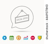special offer icon. advertising ... | Shutterstock .eps vector #666937843