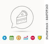 piece of cake icon. sweet... | Shutterstock .eps vector #666939163