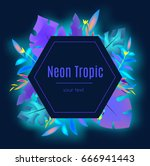 tropic banner design template.... | Shutterstock .eps vector #666941443