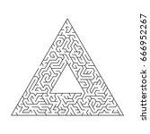 vector maze templates. circle...   Shutterstock .eps vector #666952267