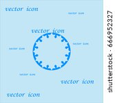 abstract circle of people icon | Shutterstock .eps vector #666952327
