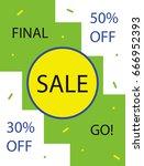 banner  flyer for printing. a... | Shutterstock .eps vector #666952393