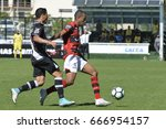 Small photo of Rio, Brazil - jun 26, 2017: Yago Pikachu and Bruno Lopes player in match between Vasco and Atletico-GO by the Brazilian championship in Sao Januario Stadium
