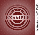 example badge with red... | Shutterstock .eps vector #666958093