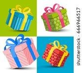 gift boxes | Shutterstock .eps vector #666966517
