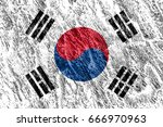 flag of south korea | Shutterstock . vector #666970963