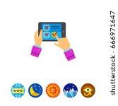online test icon   Shutterstock .eps vector #666971647