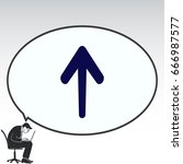 arrow indicates the direction ... | Shutterstock .eps vector #666987577