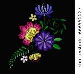 vector design for collar t... | Shutterstock .eps vector #666995527