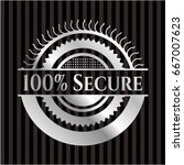 100  secure silvery badge | Shutterstock .eps vector #667007623