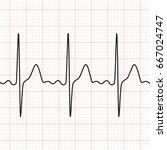 cardiogram. electrocardiogram.... | Shutterstock .eps vector #667024747