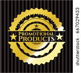 promotional products gold badge ... | Shutterstock .eps vector #667029433