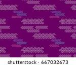 decorative seamless tribal ... | Shutterstock .eps vector #667032673