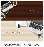 top view laptop computer vector ...   Shutterstock .eps vector #667032697