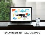 content is king seo search... | Shutterstock . vector #667032997