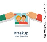 break up. crisis relationship... | Shutterstock .eps vector #667034527