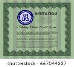 green vintage invitation... | Shutterstock .eps vector #667044337