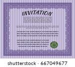 violet vintage invitation... | Shutterstock .eps vector #667049677