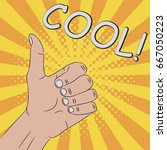 thumb up  hand gesture   cool ... | Shutterstock .eps vector #667050223