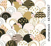 seamless pattern of  circles... | Shutterstock .eps vector #667053067