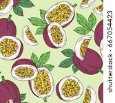 seamless pattern with passion... | Shutterstock .eps vector #667054423