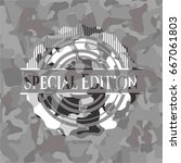 special edition on grey... | Shutterstock .eps vector #667061803