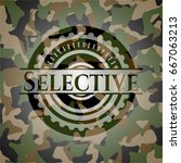 selective on camouflage pattern | Shutterstock .eps vector #667063213