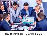 business people office life of... | Shutterstock . vector #667066123
